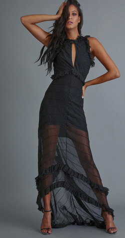 Retrofete - Dina Dress - Dark Zebra