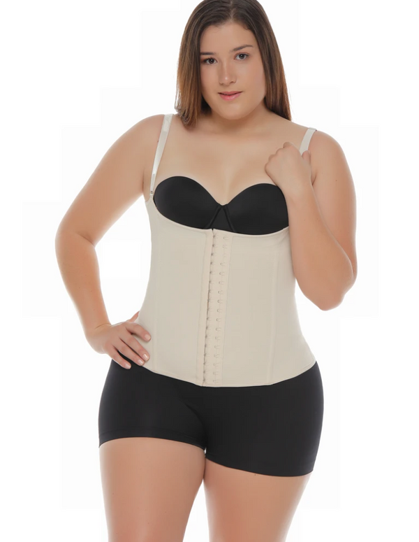 Jholui Shapewear - 0121 Parisian High Back Waist Trainer - Beige