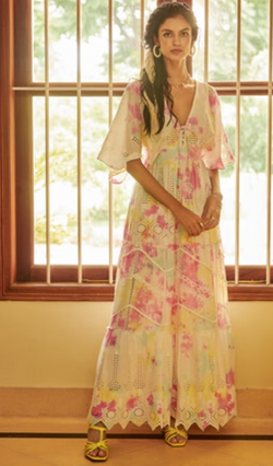 Hemant and Nandita - Amara Maxi Dress - Pastel