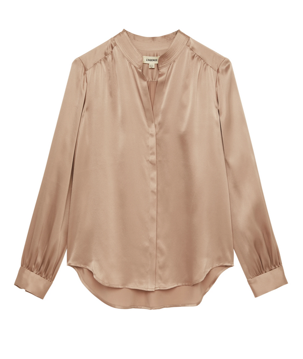 L'Agence Bianca Blouse - Pale Magenta