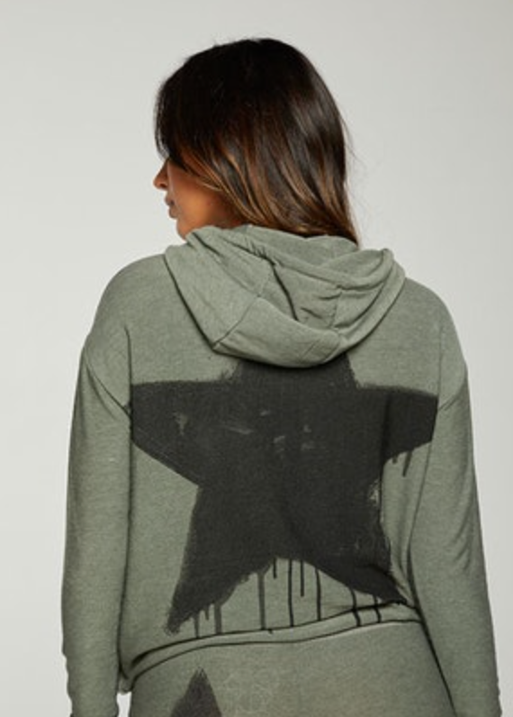 Chaser - Rpet Recycled Cozy Cropped Hoodie - Safari