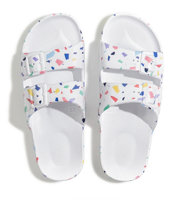 Freedom Moses - Adult Moses Sandal - Fancy Terrazzo White