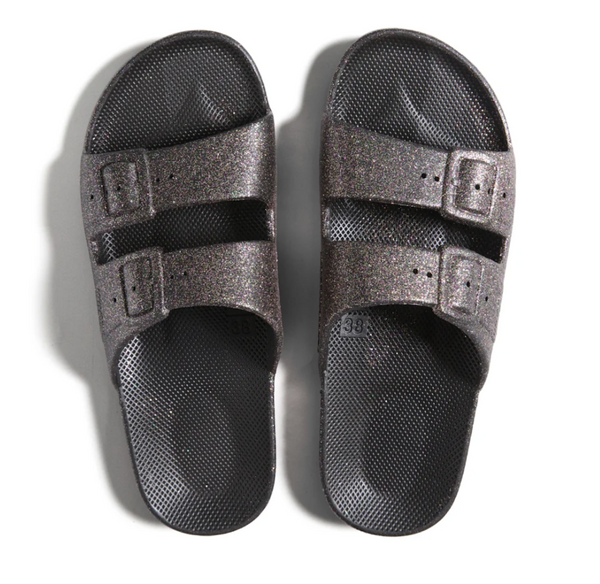 Freedom Moses - Adult Moses Sandal - Fancy Celeste Black