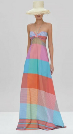 Alexis - Dusana Long Dress - Multi Stripe