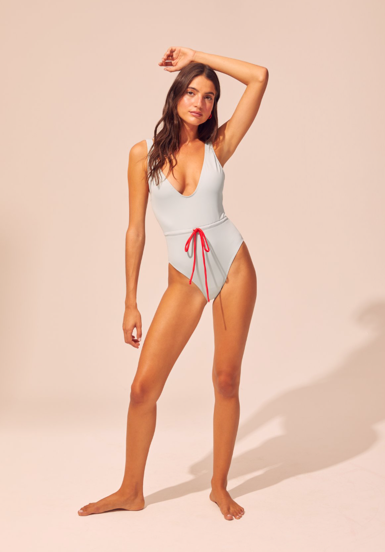 Solid & Striped - The Michelle Tie One Piece - Sky