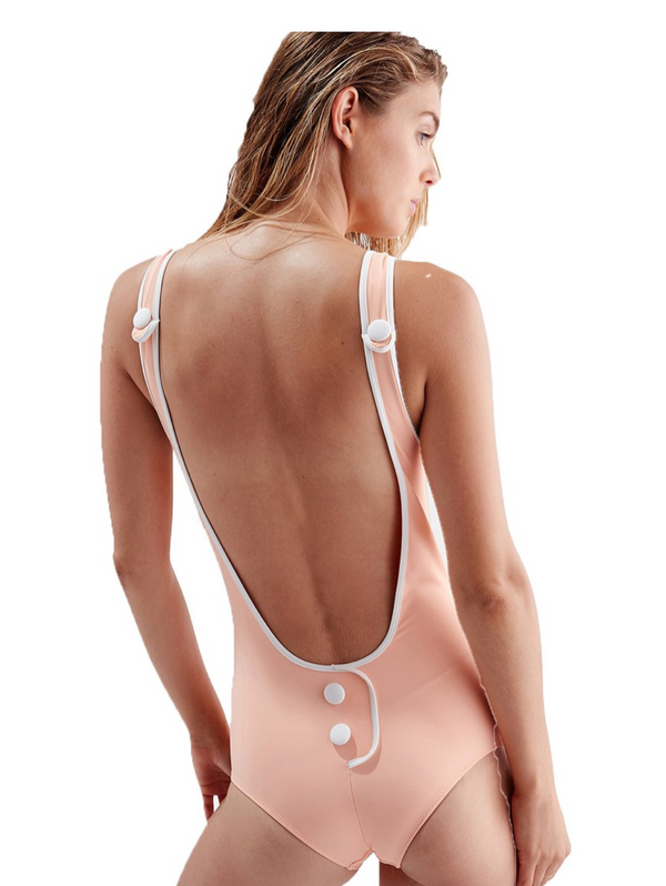 Solid & Striped - The Harlow One Piece - Peach