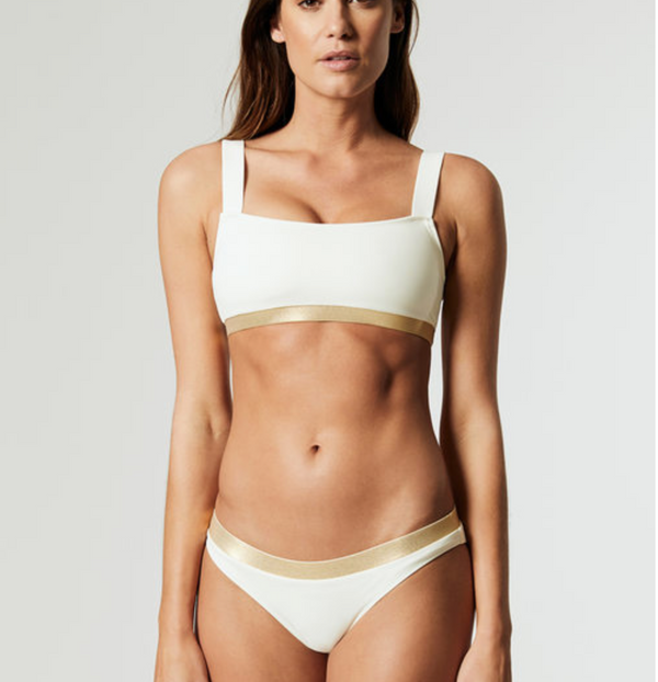 Solid & Striped - The Madison CB Top - Cream/Gold
