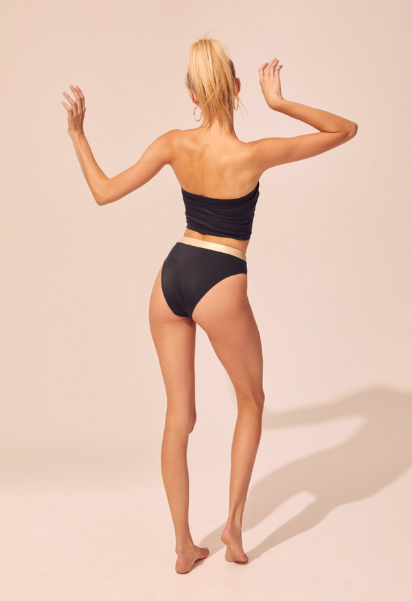 Solid & Striped - The Bella Bottom - Black/Gold