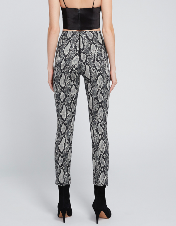 Alice & Olivia - Gloriane Snake Pant - Black Multi