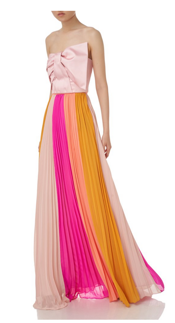 AMUR - Abby Pleated Maxi Skirt - Multi