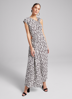 A.L.C. - Beale Snake Print Dress - Nude