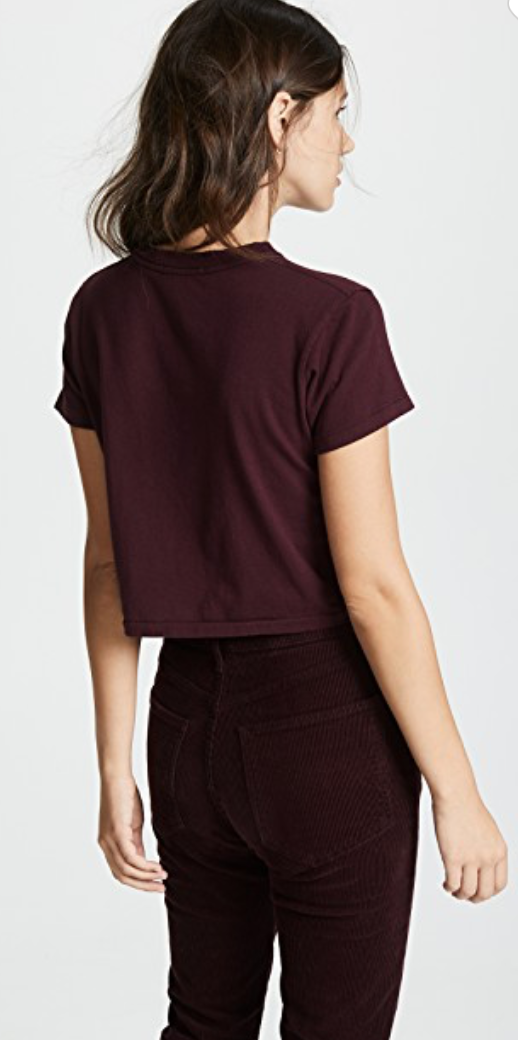 AGolde - Cropped Baby Tee - Currant