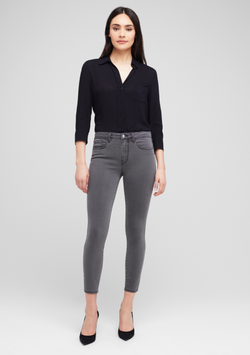 L'Agence - Margot High Rise Skinny - Cast Iron