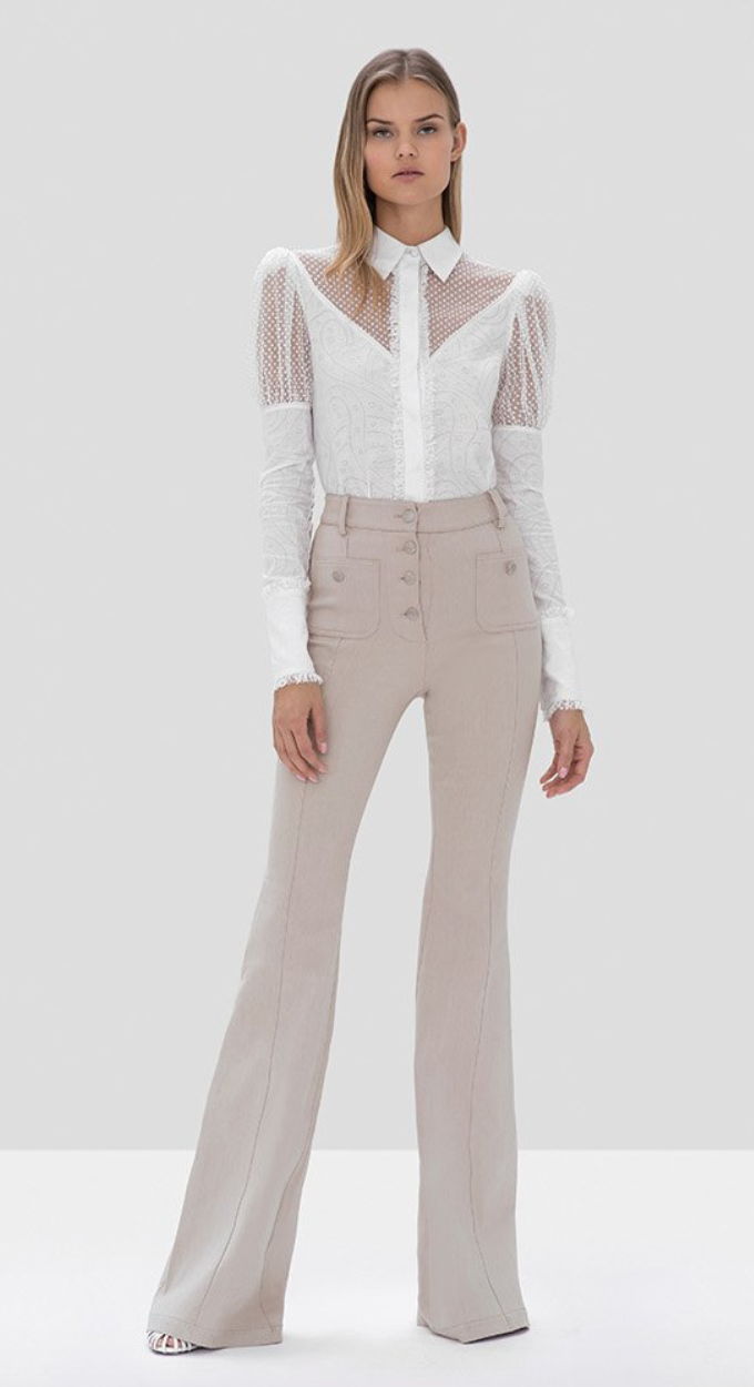 Alexis - Helene Pant in Oyster