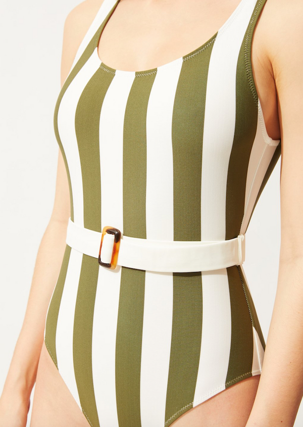 Solid & Striped - THE ANNE-MARIE BELTED SAFARI STRIPE