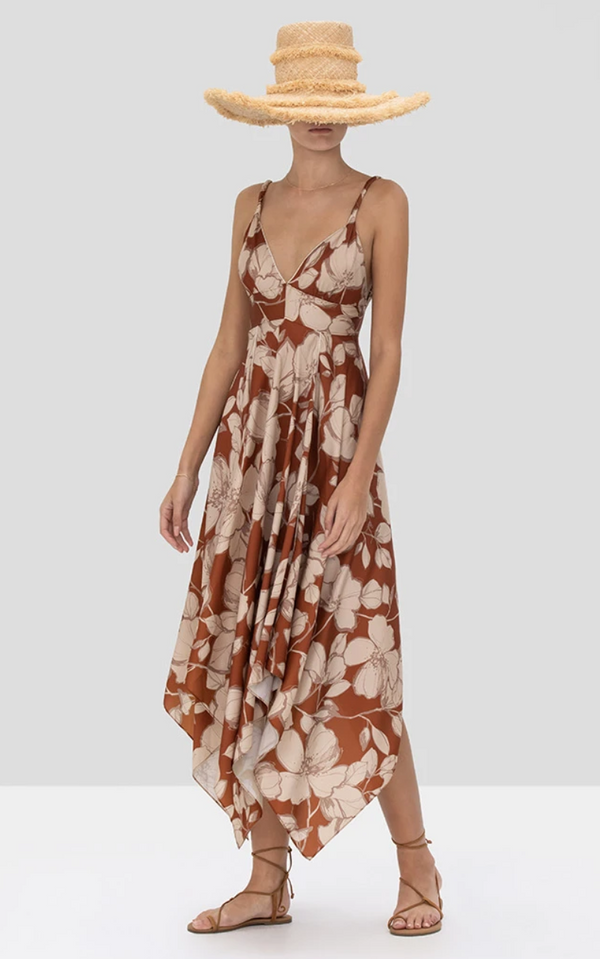 Alexis - Gaiana Dress  - Sand Floral