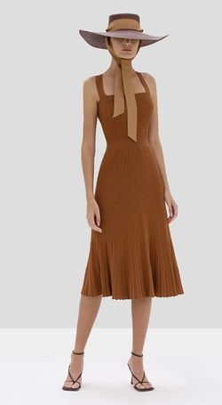 ALEXIS - BESS DRESS - RUST