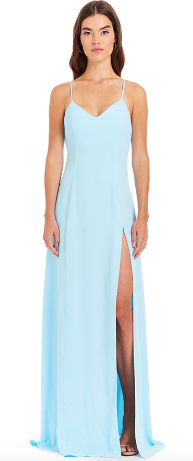 Amanda Uprichard - Channing Gown - Ice Blue