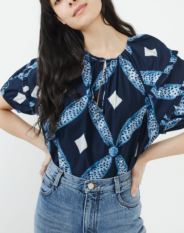 Ulla Johnson Arusi Blouse - Indigo
