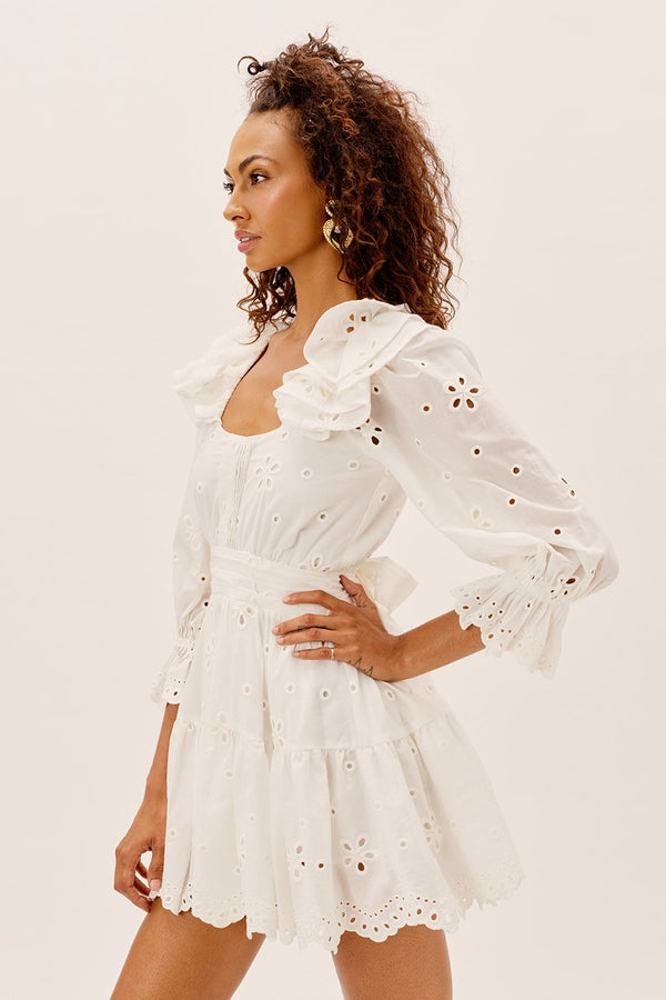For Love & Lemons - Serena Mini Dress - White