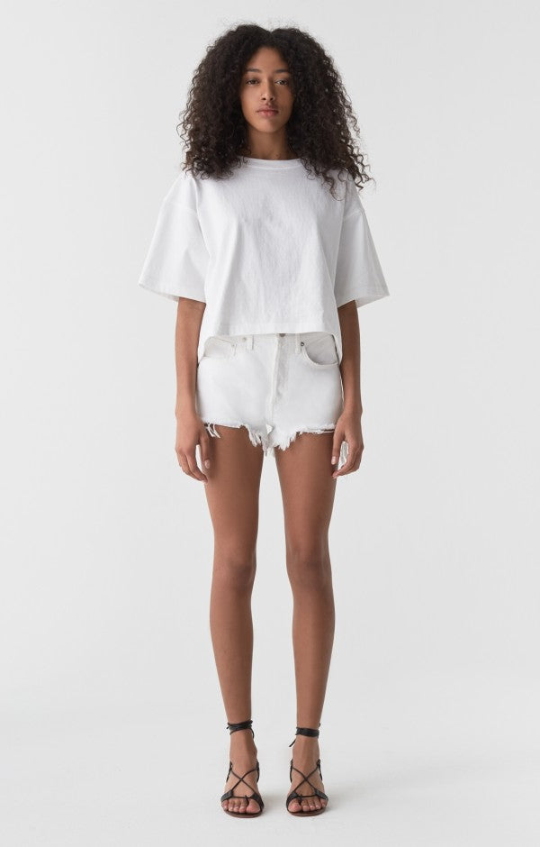 Agolde - Parker Vintage Cut Off Shorts - Gleam White