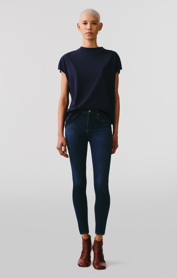 AGOLDE - SOPHIE MID RISE SKINNY ANKLE - Prelude