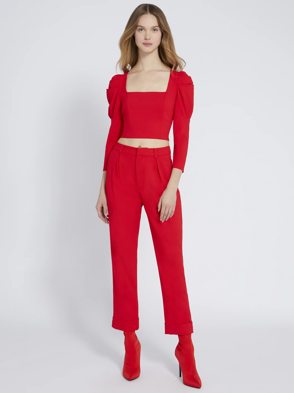 Alice + Olivia - Ardell Front Pleat Pant - Paprika
