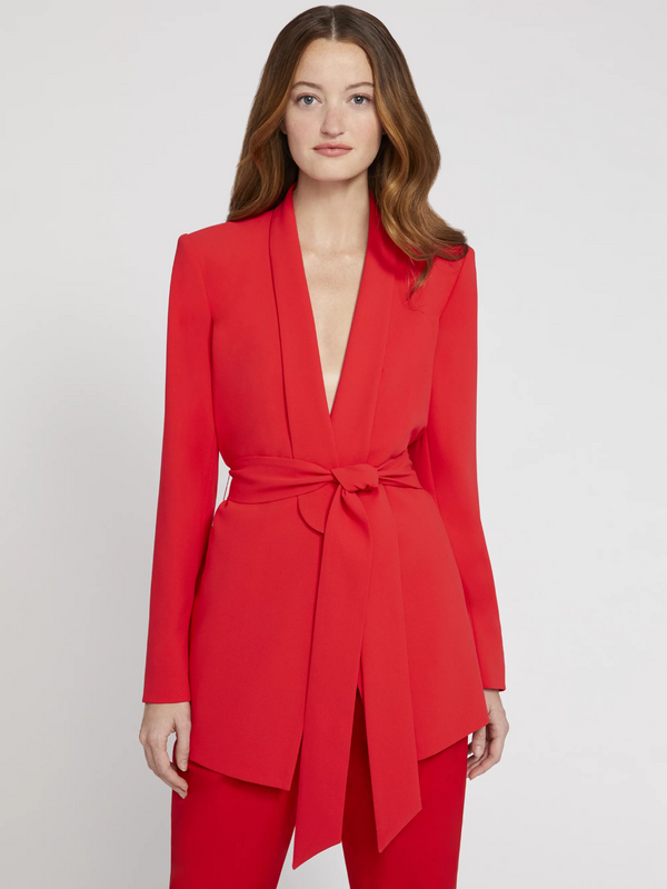Alice + Olivia - Denny Strong Shoulder Blazer - Paprika