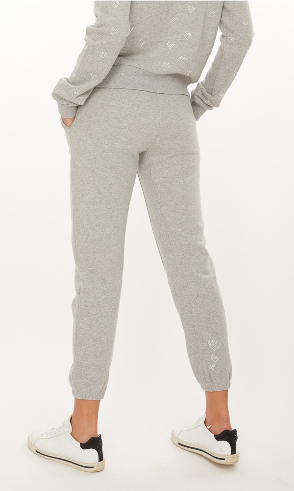 Generation Love - Addison Hearts Sweatpants - Heather Grey