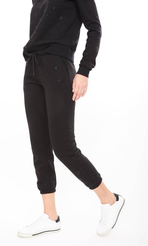 Generation Love - Addison Heart Sweatpant - Black