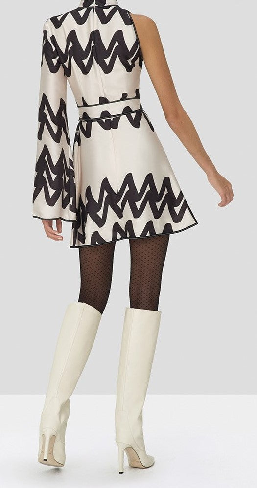 Alexis - Elina Dress - Cream Abstract