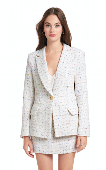 Amanda Uprichard - Aldridge Blazer - Boat House Tweed