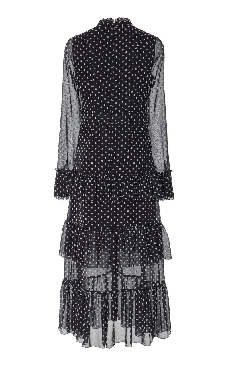 Alexis - Parissa Dress - Black Embroidery Dot