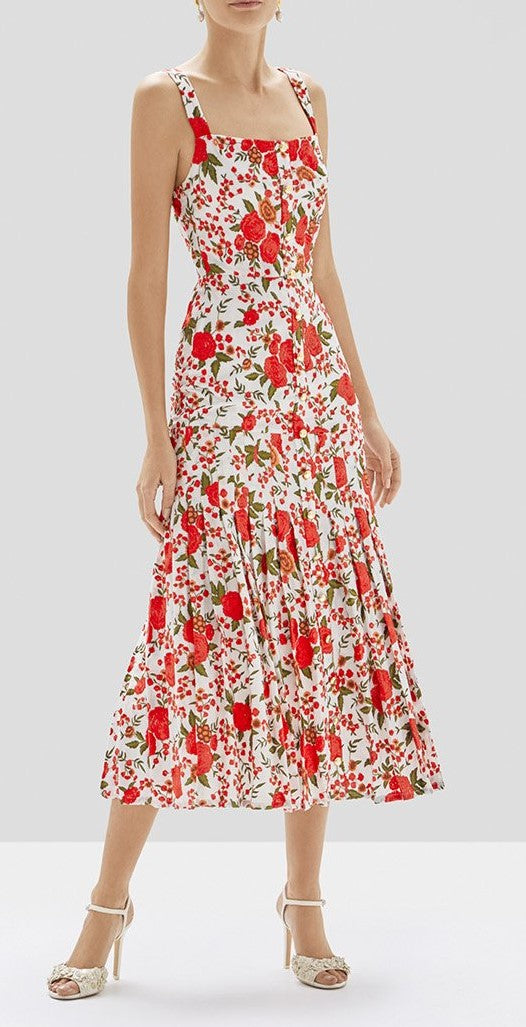 Alexis - Amal Dress - Rose Embroidery