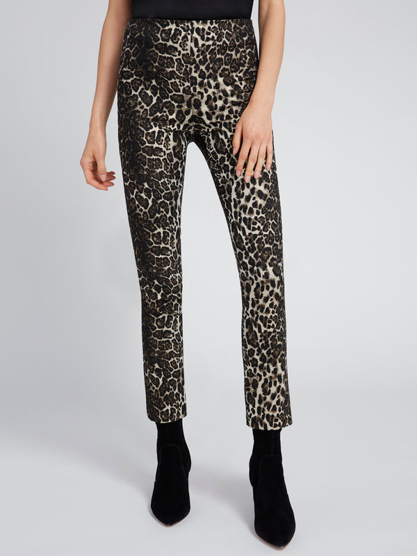 Alice + Olivia - CONNLEY SHIMMER LEOPARD PANT