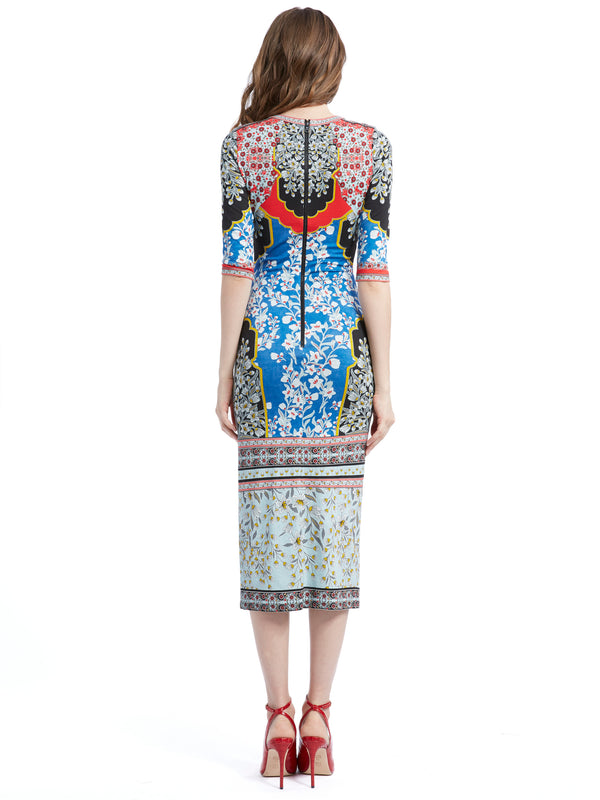 Alice + Olivia - Delora Fitted Dress - Palace Daffodil