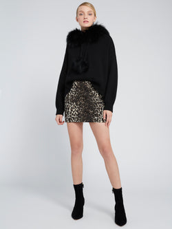 Alice + Olivia - Elana Mini Skirt - Leopard
