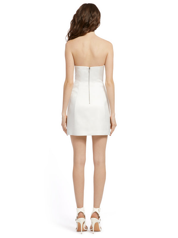 Alice & Olivia - Matira Strapless Mini Dress - Off White