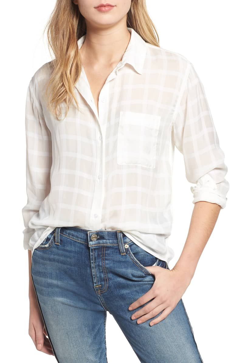 Rails - Aly Top - White Tonal Plaid