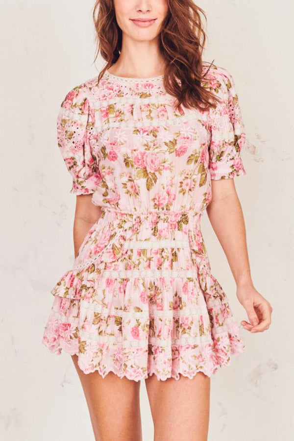 LoveShackFancy - Augustine Dress - Pink Painted Fence