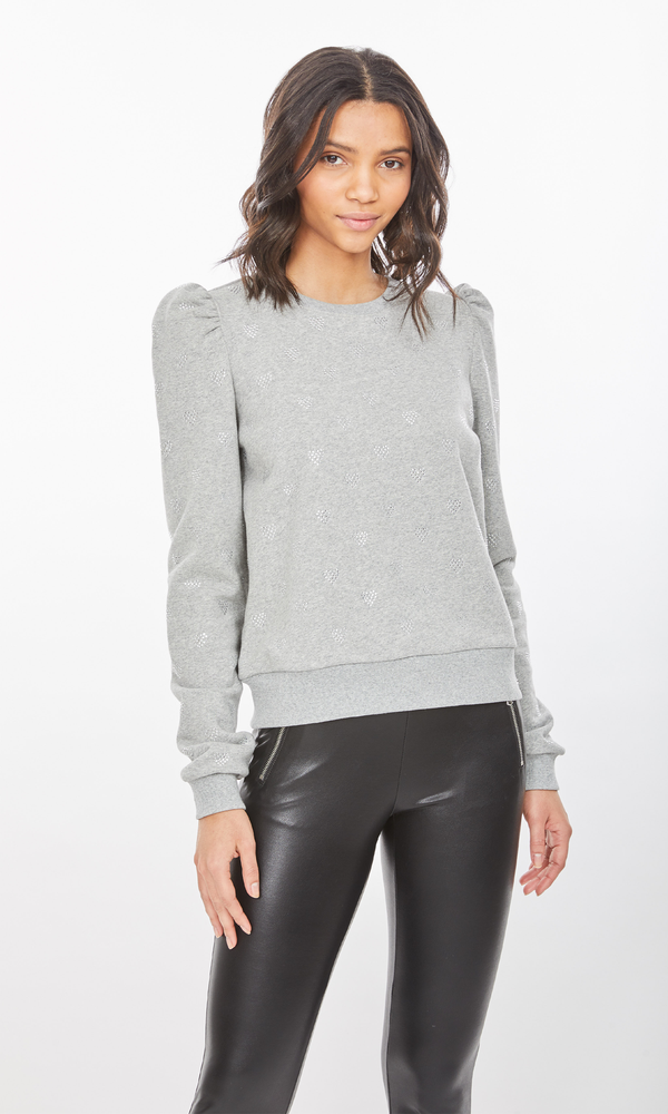 Generation Love - Avery Hearts Sweatshirt - Heather Grey
