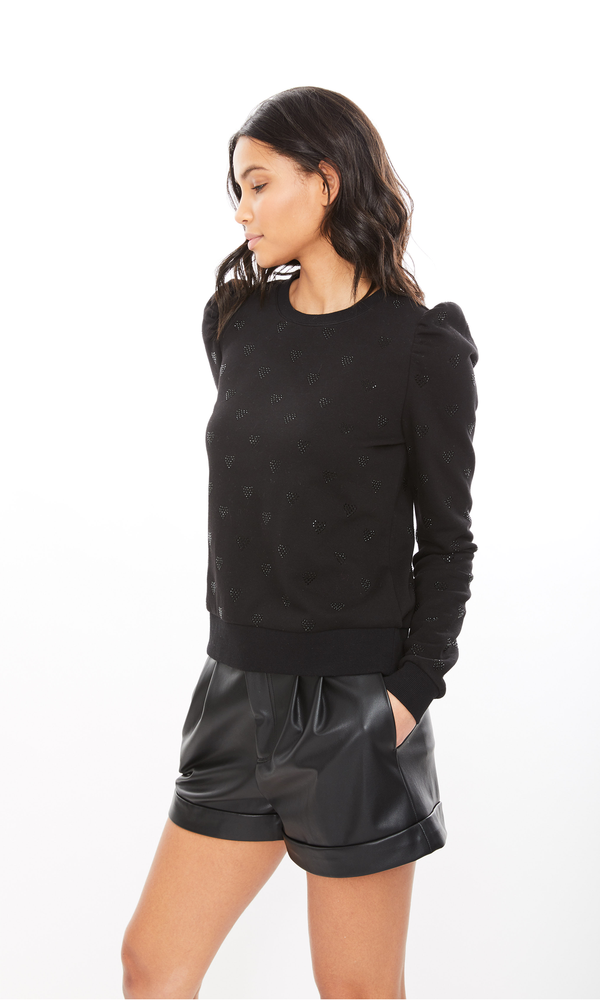 Generation Love - Avery Heart Sweatshirt - Black