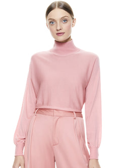 ALICE + OLIVIA - DIA SLOUCHY DOLMAN SWEATER- ROSE