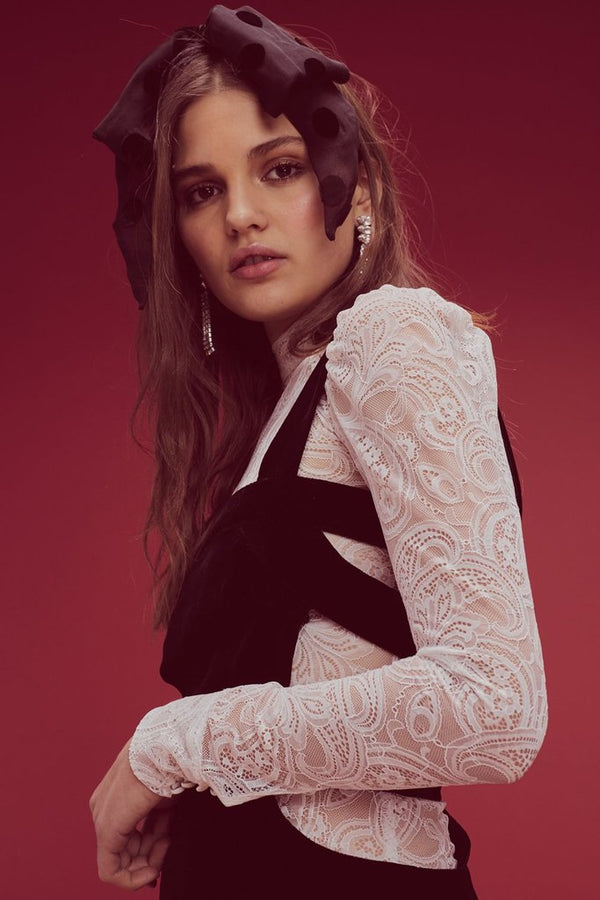 For Love & Lemons - Belle Lace Layering Blouse - White