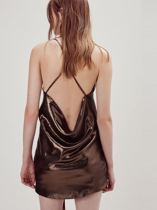 For Love & Lemons - Blackjack Mini Dress - Copper
