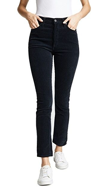 Citizens of Humanity - olivia High rise slim ankle - black corduroy