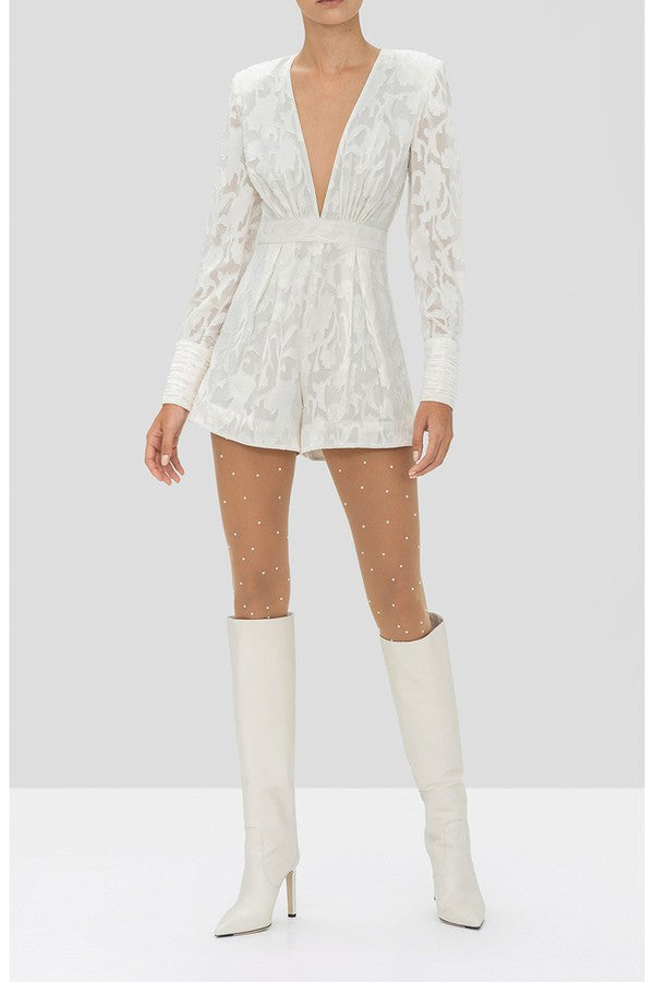 ALEXIS - THEDA ROMPER - IVORY FLORAL