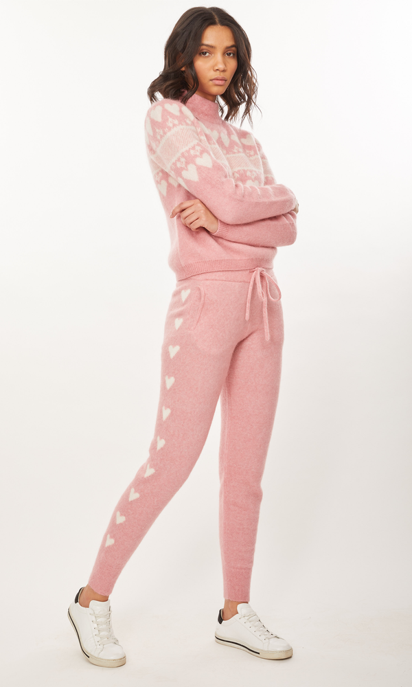 Generation Love - Camilla Heart Joggers - Pink/White
