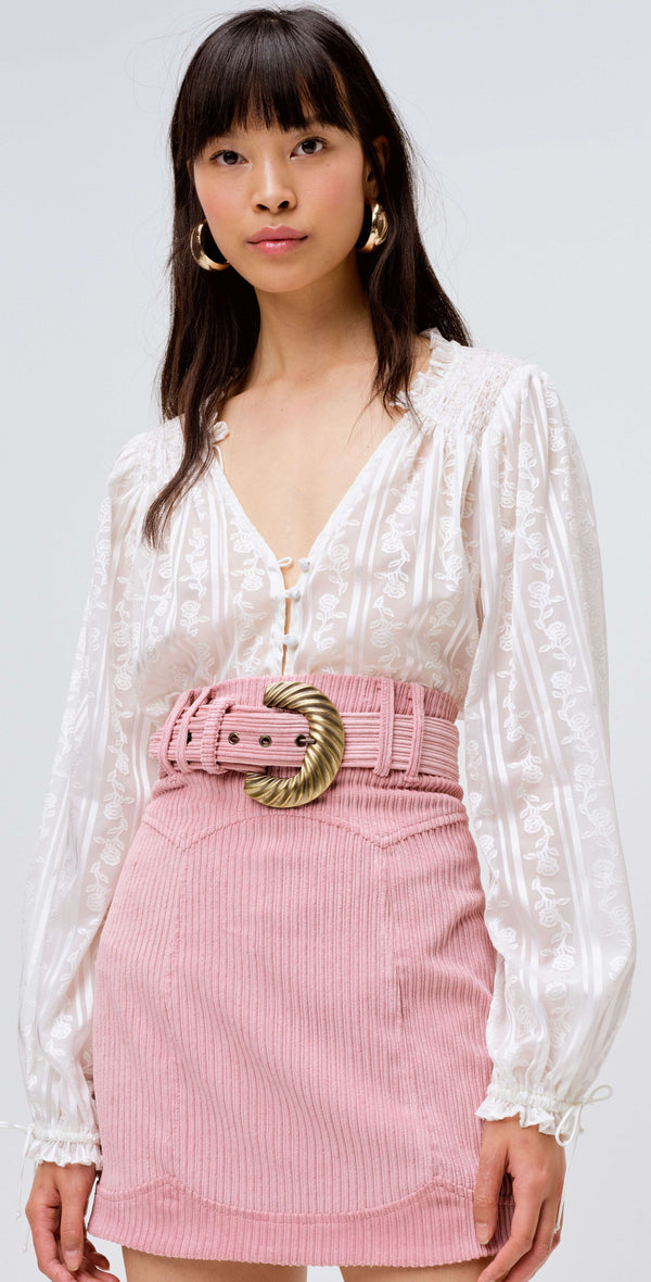For Love & Lemons - Carson Mini Skirt - Blush