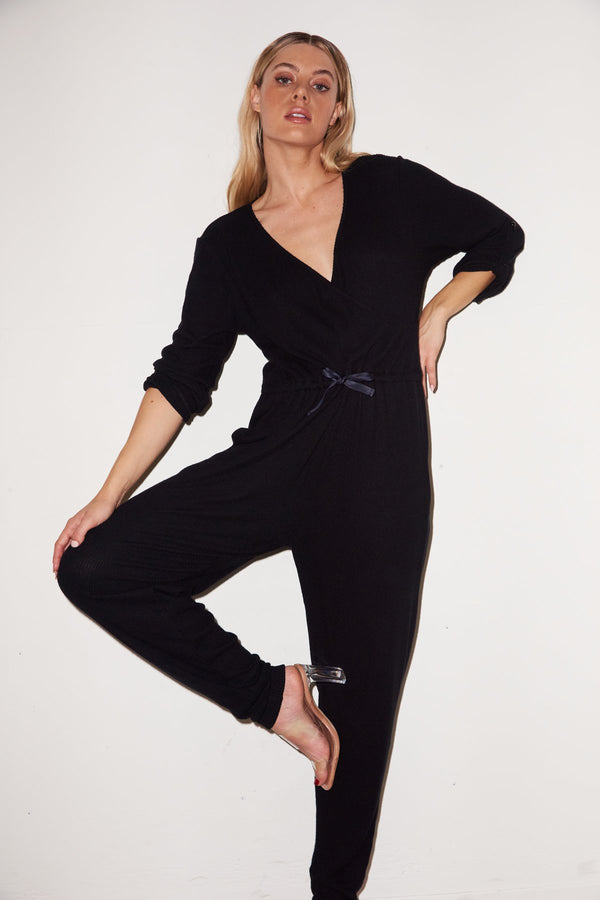 LNA - Cass Cozy Jumpsuit - Black
